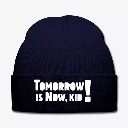 tomorrow-is-now-kid-logo-winter-hat